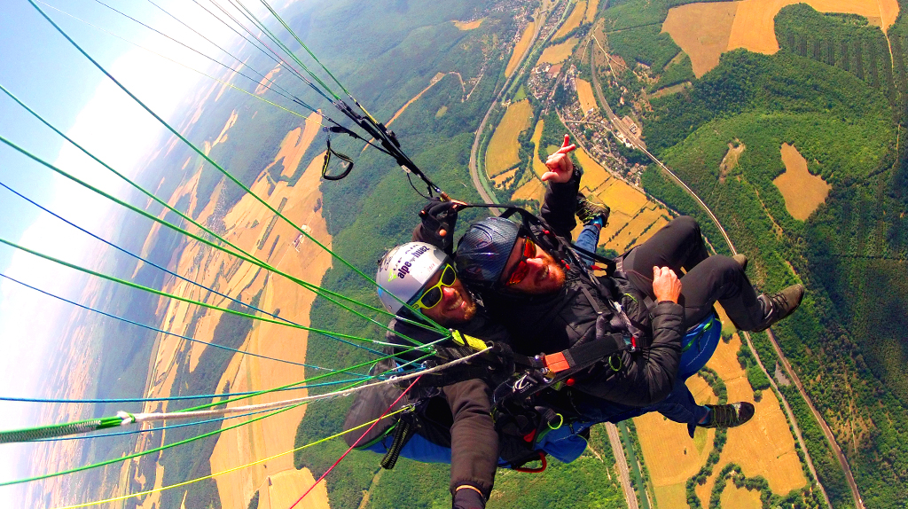 photo parapente biplace client n°1